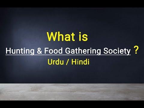 Hunting & Food Gathering Society || Urdu / Hindi