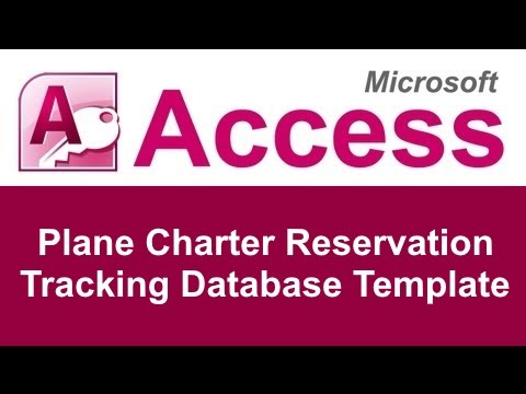Microsoft Access Plane Charter Reservation Database Template