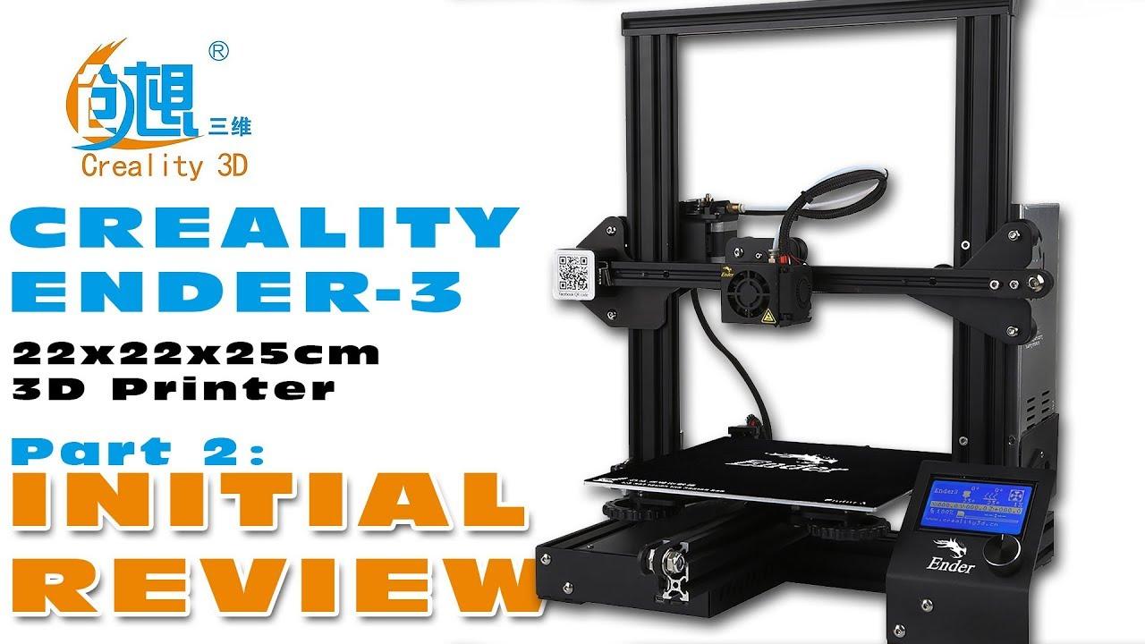 Creality ENDER-3 Desktop 3D printer – Show & Tell! :)