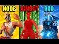 NOOB vs PRO vs AIMBOTTER - Fortnite Battle Royale Memes