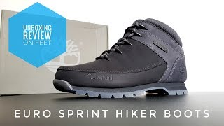 TIMBERLAND Euro Sprint Hiker Boots 2019 Jet Black - unboxing | review | on feet