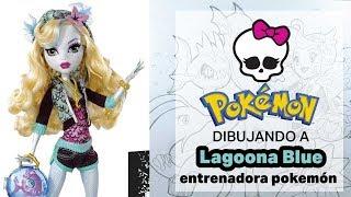 Dibujando a Lagoona Blue Pokemon Trainer