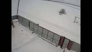 Разбился Ан 148, видео снятое камерой видеонаблюдения