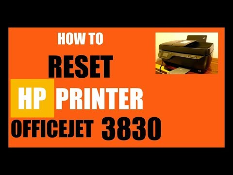 How To RESET HP OfficeJet 3830 All-In-one Printer To Factory Default Setting, review.