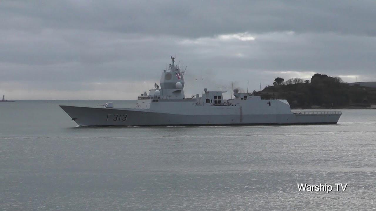 Royal Norwegian Navy Hnoms Helge Ingstad F313 Leaving Devonport At Rusty Anchor 22nd January