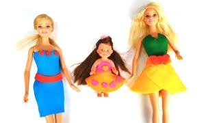 Платья для Барби из пластилина ПлейДо своими руками