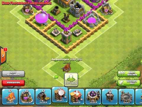 Clash of Clans Verteidigung (Rathaus level 6)