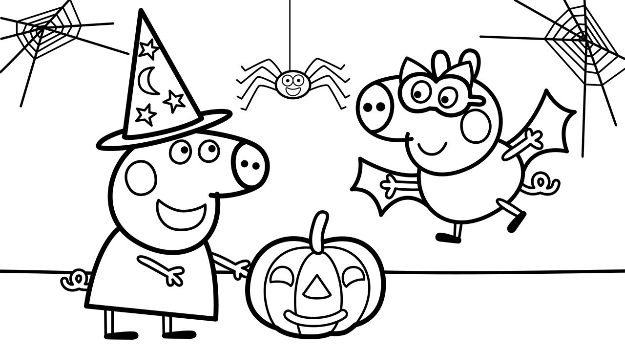 Peppa Pig's Best Halloween Party 🎃 Official Coloring Book ...