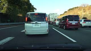 4K 東名高速道路・上り 等速 足柄SA→厚木IC 足柄SA~鮎沢PA事故渋滞あり