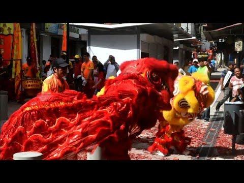 عروض تقليدية آسيوية في بنما احتفالا برأس السنة الصينية