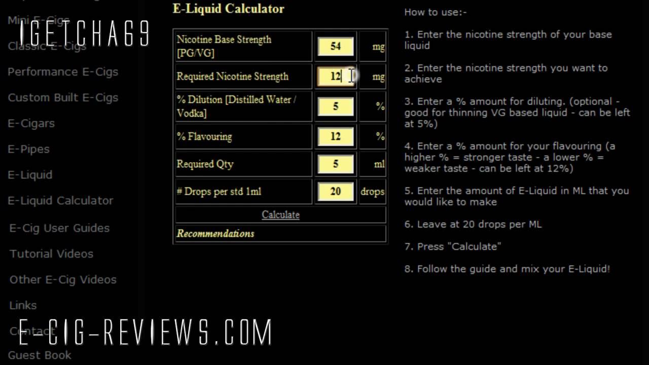 also  liquid mixing calculator tutorial youtube rh