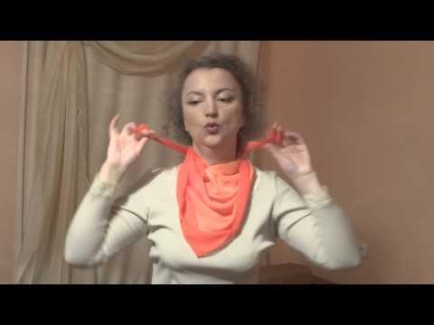 Завязываем  шейный платок.ч. 2.