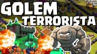 É POSSÍVEL 1 GOLEM DESTRUIR CENTRO DA VILA ? - Clash of clans