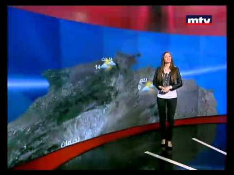 Aimee MTV Lebanon - Weather Forecast 03 Jan 2012. إيميه الصياح