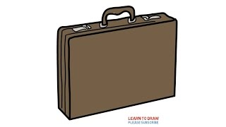 Easy Step For Kids How To Draw a Briefcase