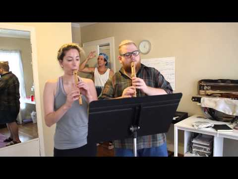 Man literally loses control of himself after hearing Baroque recorder duo.