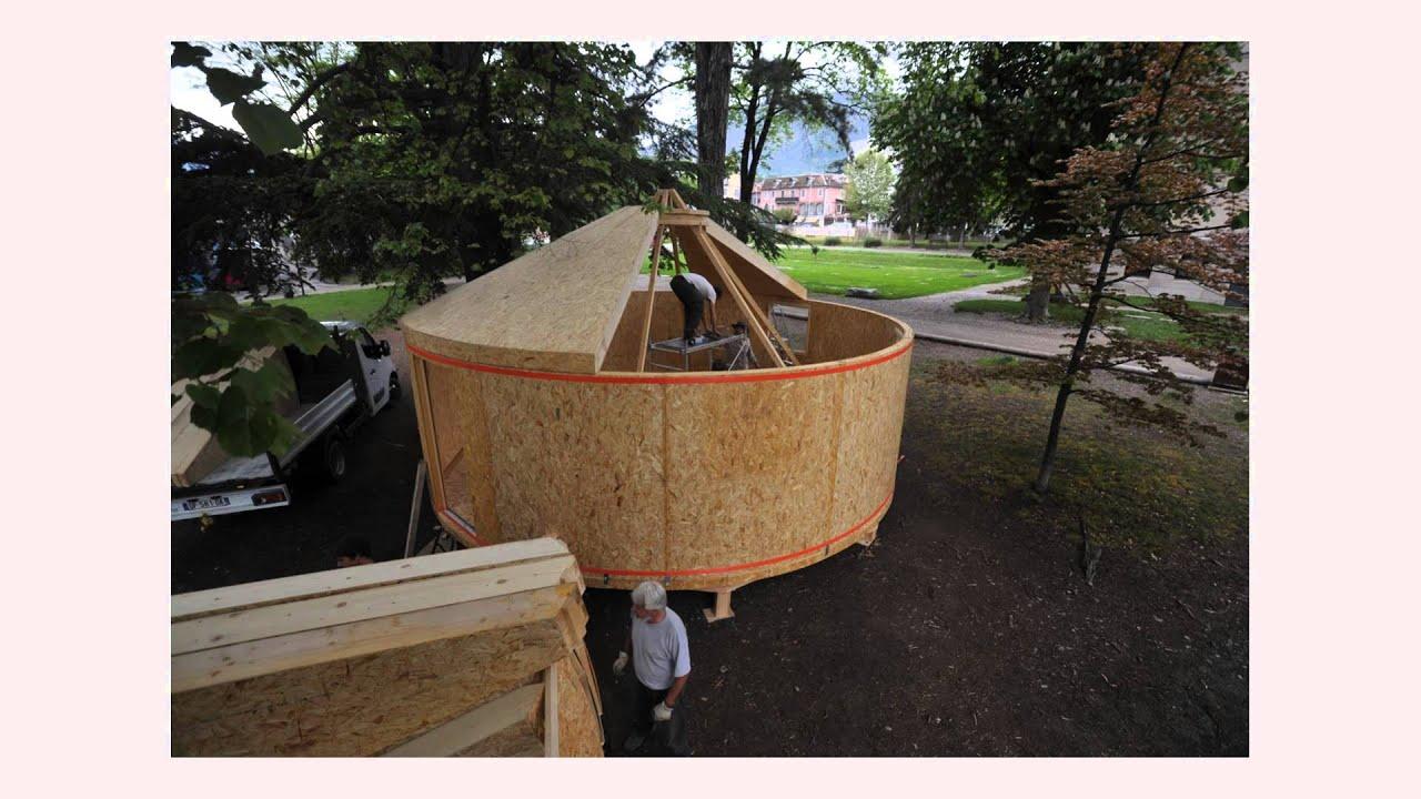 yourte en bois de 35m youtube. Black Bedroom Furniture Sets. Home Design Ideas