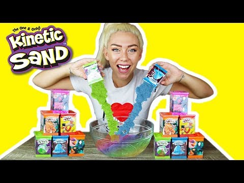 MIXING ALL MY KINETIC SAND TOGETHER IN TO A GIANT SAND SMOOTHIE!