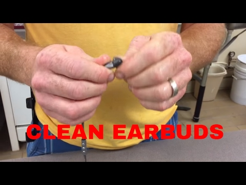 Clean earbuds with alcohol