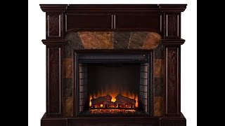 SEI Cartwright Convertible Corner Electric Fireplace Review - Does Function Match Form?