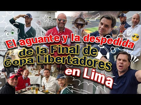 El aguante y la despedida de la Final de Copa Libertadores en Lima