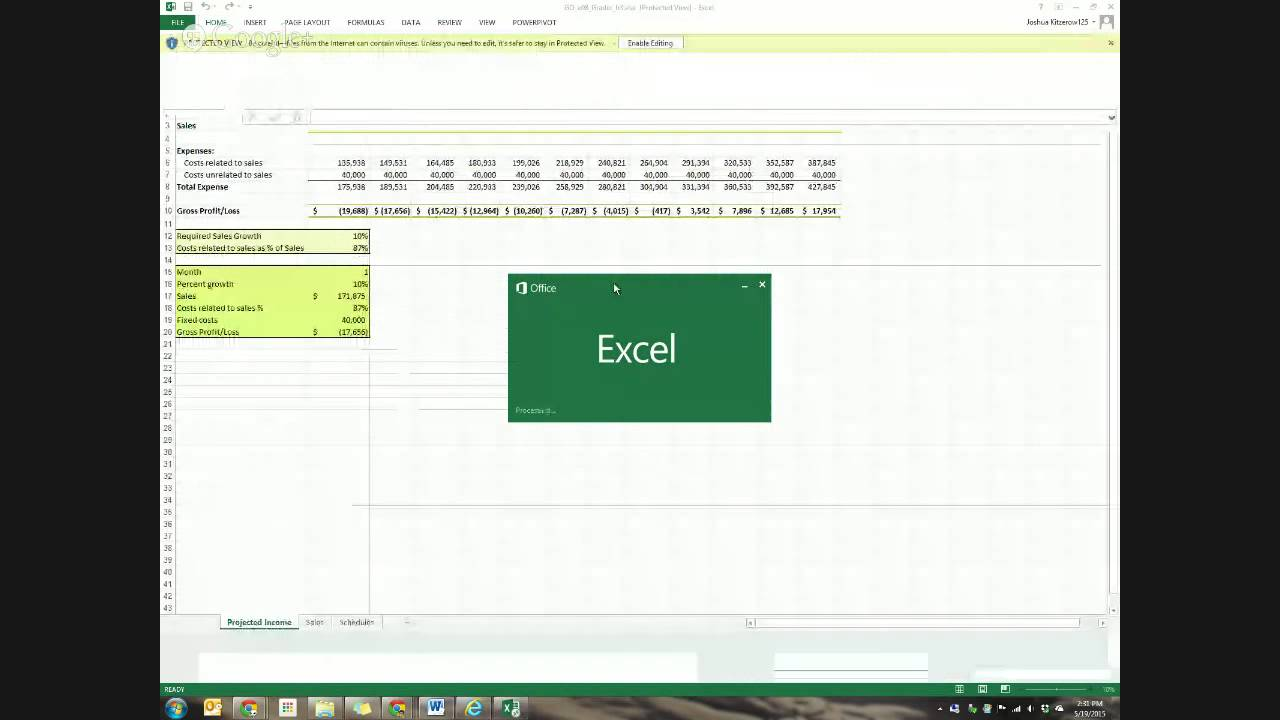 excel chapter 8 test