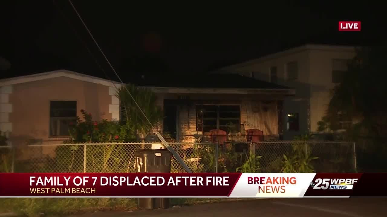 west-palm-beach-fire-displaces-family-of-7