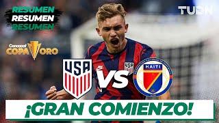 Resumen y goles | Estados Unidos vs Haití | Copa Oro 2021 | Grupo B