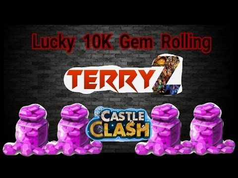 Castle Clash Lucky 10K Gem Rolling Plus Lucky Chest And Mesa 4 Chest Opening
