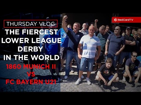 Vlog Munich: The Fiercest Lower Derby In The World. 1860 Munich vs Bayern Munich | RedCardTV