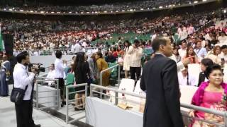 Sen. Bongbong Marcos - Attending INC's Phil. Arena inauguration with family. Bulacan, 21 July 2014.