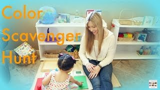 Montessori-Inspired Color Scavenger Hunt for Toddlers and Preschoolers - Living Montessori Now