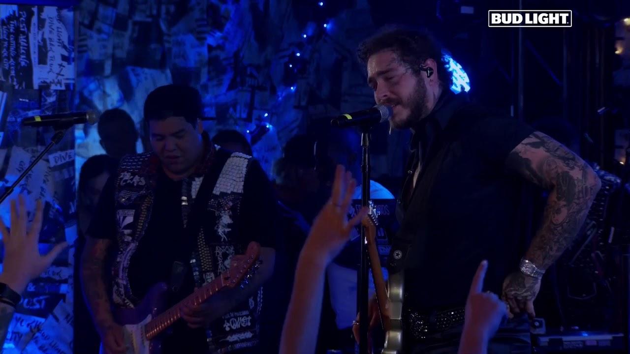 Post Malone - Feeling Whitney (Bud Light Dive Bar Tour) (Live)