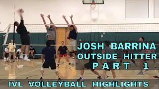 Josh Barrina Volleyball Highlights - IVL Men's Open 2018 (Outside Hitter)