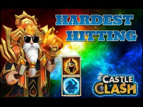 Castle Clash Hardest Hitting Warlock! 8/8 Wargod 5/5 Bulwark!
