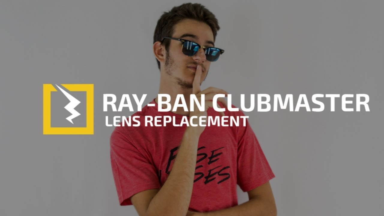 1e33223802 How to Change The Lenses in Your Ray Ban 3016 Clubmaster - YouTube