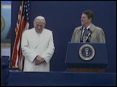 President Reagan's and Pope John Paul II Remarks at their Arrival in Alaska on May 2, 1984