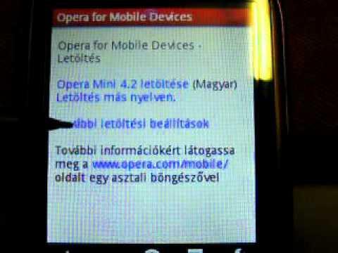 Opera 5.1 telepítése Alcatel OT-806 vagyis T-Mobile Vairy Text II telefonra
