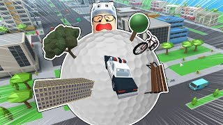 ROBLOX: THE OLD MAN HAS BECOME A GIANT WRECKING BALL OF CITIES! -Jouer vieil homme
