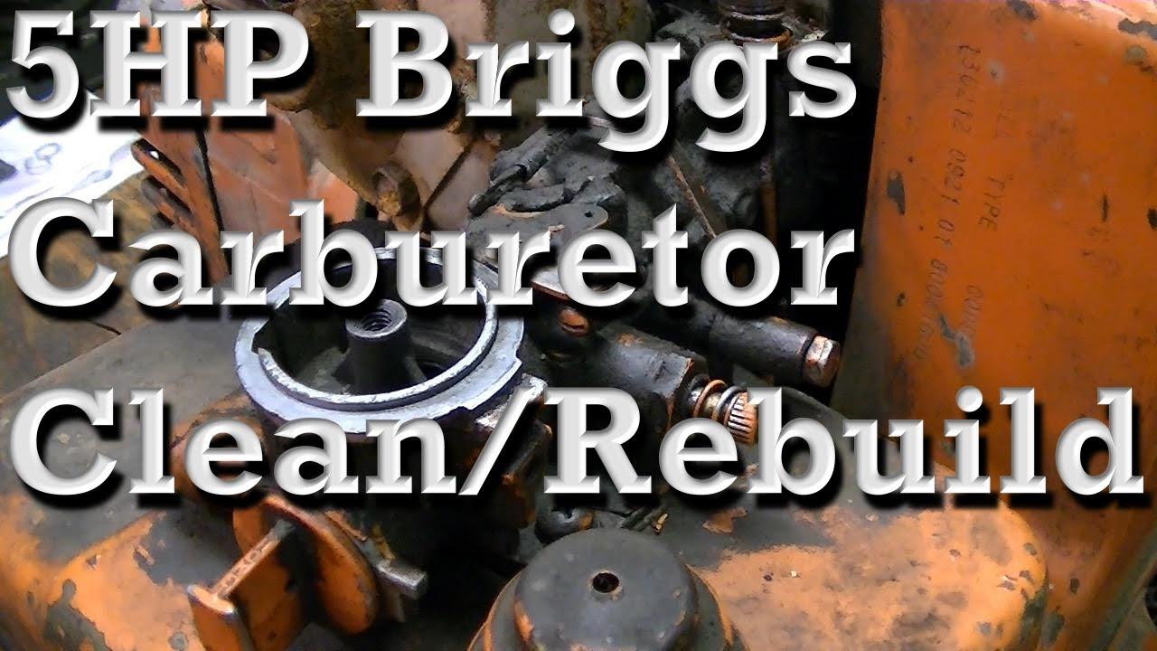 5HP Briggs and Stratton Carburetor Clean and Rebuild (Pull