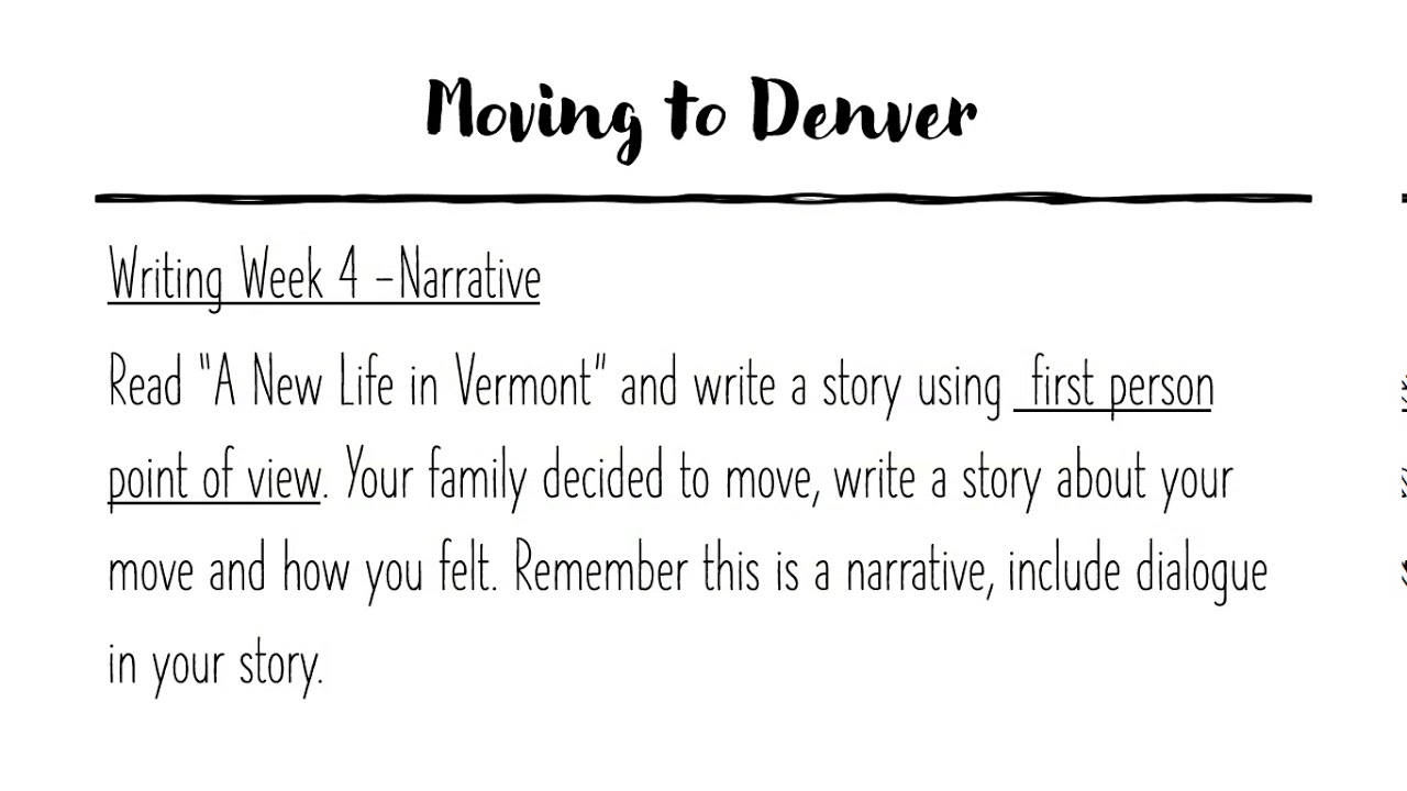 Week 6 - Day 6 - Writing a Narrative using Dialogue - YouTube