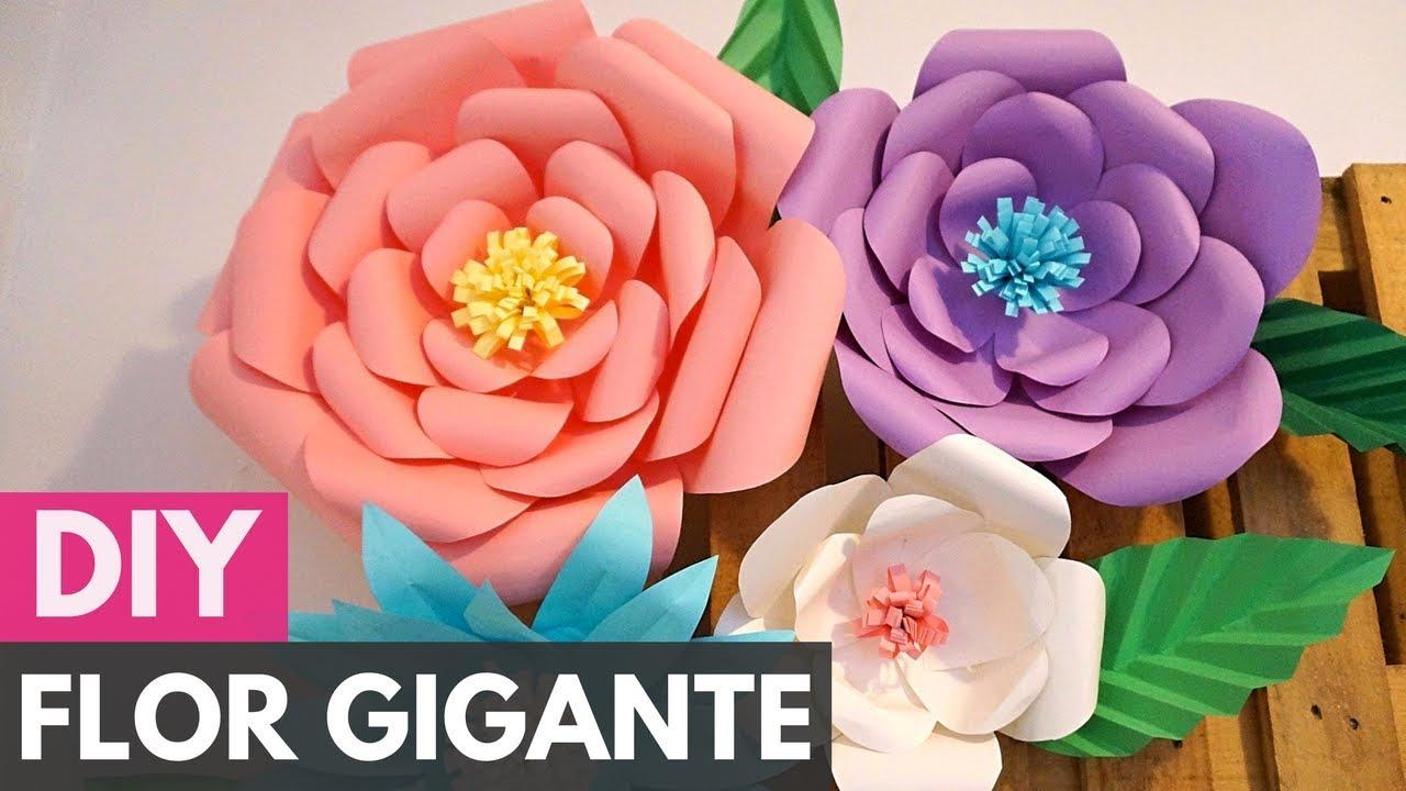Flor Gigante de Papel #PapelEmTudo2 |DIY - Faça você mesmo #1