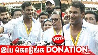 இப்ப  கொடுங்க உங்க Donation : Vishal asks Ishari K Ganesh to donate for Nadigar Sangam