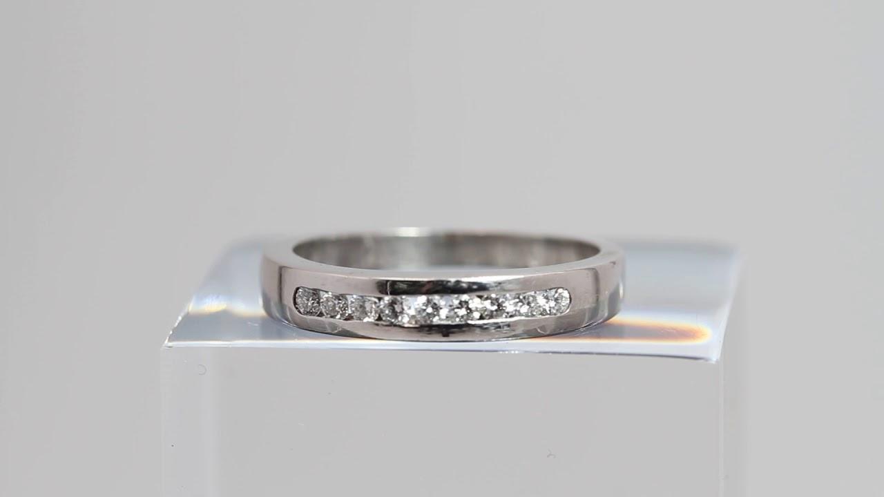 e869a40f6c16 Media alianza de oro blanco y 9 diamantes de segunda mano E311103A ...