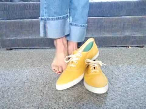 Vintage Yellow Pointy Toe PF Flyers