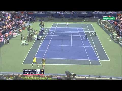 Ivanovic vs Pironkova 2012 US Open Highlights