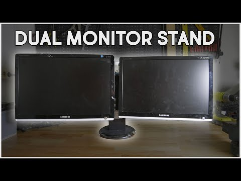 DIY Dual Monitor Stand