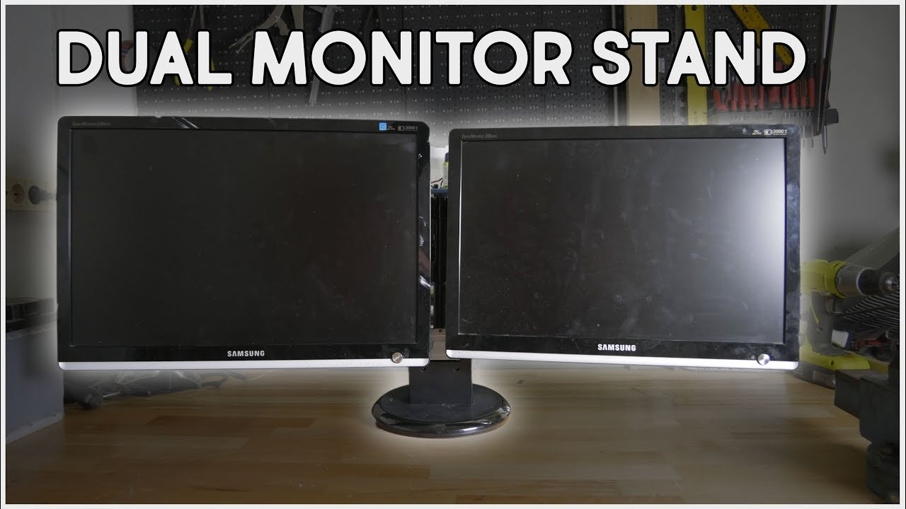 DIY Dual Monitor Stand - YouTube