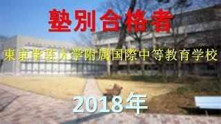 東京学芸大学附属国際中等教育学校 2018年春 塾別合格者