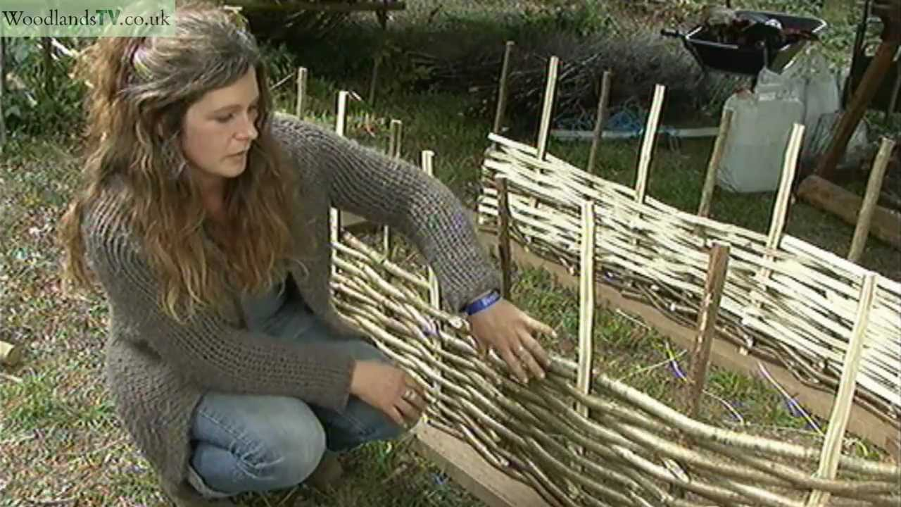 Making A Rose Arch From Hazel Rods Youtube